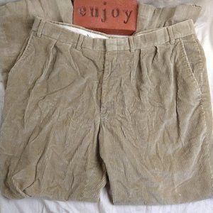 Vintage Eddie Bauer Corduroy Casual Dress Tan 38 W